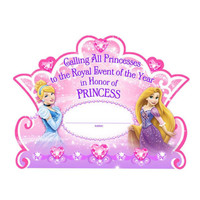 Disney Very Important Princess Dream Party Invitations & Thank-You Postcards