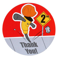 Construction Pals 2nd Birthday Thank You Notes