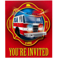Fire Trucks Thank-You Notes