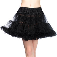 Tulle Petticoat Layered Black (One-Size)