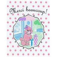 Pink Poodle in Paris Thank-You Notes