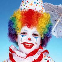 Child's Rainbow Clown Wig