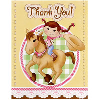 Pink Cowgirl Thank-You Notes
