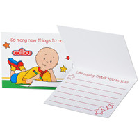 Caillou Thank-You Notes