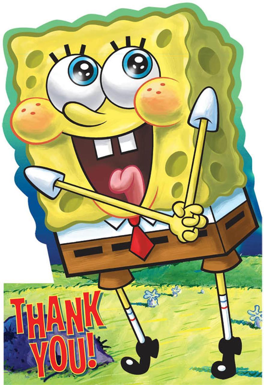 spongebob thankyou notes