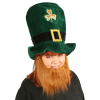 Plush Leprechaun Hat with Beard