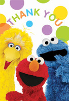 Sesame Street Party Thank-You Notes