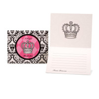 Elegant Princess Damask Thank-You Notes