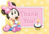 Disney Minnie 1st Thank-You Notes