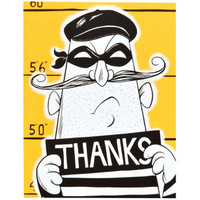 Cops and Robbers Party Thank-You Notes