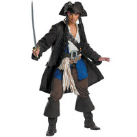 Pirates of the Caribbean - Captain Jack Sparrow Prestige Adult Costume