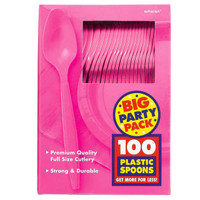 Bright Pink Big Party Pack Spoons