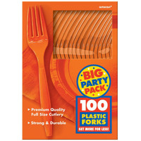 Orange Peel Big Party Pack Forks