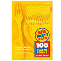 Yellow Sunshine Big Party Pack Forks