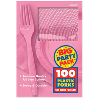 New Pink Big Party Pack Forks