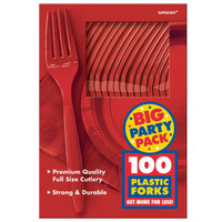 Apple Red Big Party Pack Forks