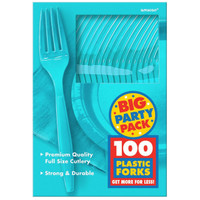 Caribbean Blue Big Party Pack - Forks