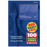 Bright Royal Blue Big Party Pack - Forks