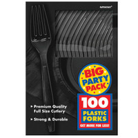 Black Big Party Pack - Forks