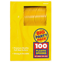 Yellow Sunshine Big Party Pack Spoons