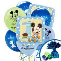 Disney Mickey 1st Birthday Balloon Bouquet