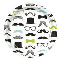 Mustache Man Dinner Plates