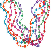 Pearlized Diamond Bead Necklaces
