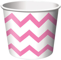 Chevron Stripe Treat Cups - Pink (6)