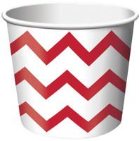 Chevron Stripe Treat Cups - Red (6)