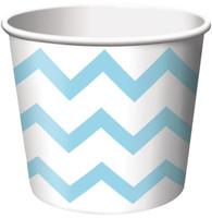 Chevron Stripe Treat Cups - Pastel Blue (6)
