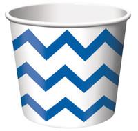Chevron Stripe Treat Cups - Blue (6)