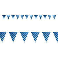 Blue and White Dots Flag Banner