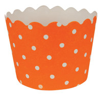 Sunkissed Orange Polka Dot Cupcake Wrappers (12)