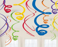 Rainbow Plastic Swirl Decorations