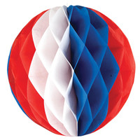 "Red, White and Blue 12"" Honeycomb Ball"