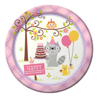 Happi Woodland Girl Dinner Plates (8)