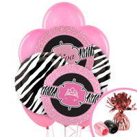 Diva Zebra Print Balloon Bouquet