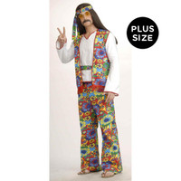 Hippie Man Adult Plus Costume