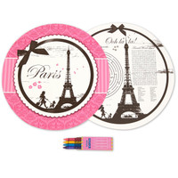 Paris Damask Activity Placemat Kit for 4