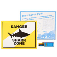 Sharks Activity Placemat Kit for 4