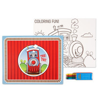 Two - Two Train 2nd Birthday Activity Placemat Kit for 4