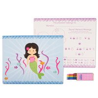 Mermaids Activity Placemat Kit for 4