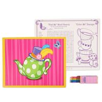 Topsy Turvy Tea Party Activity Placemat Kit for 4