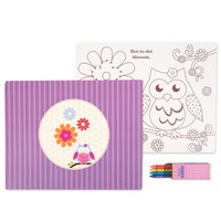 Owl Blossom Activity Placemat Kit for 4