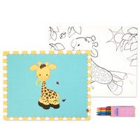 Giraffe Activity Placemat Kit for 4