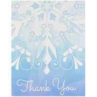 Snowflake Winter Wonderland Thank-You Notes (8)