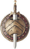 Spartan Combat Shield and Sword