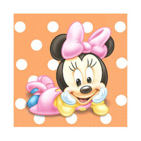 Disney Minnie's 1st Birthday Beverage Napkins (16)