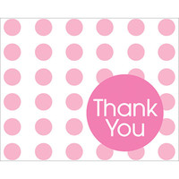 Candy Pink Dots Thank You Notes (8)