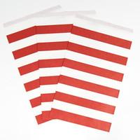 Classic Red Chevron Paper Treat Bags (10)